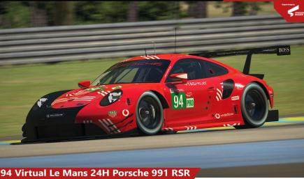 #94 Virtual LeMans 24H Porsche RSR