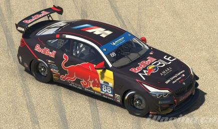 BMW M4 GT4 Red Bull Black edition