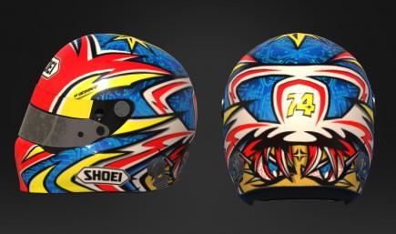 Daijiro Helmet - Red Bleu Yellow