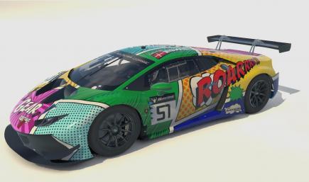 Lamborghini Huracan GT3 EVO - GEAR Grasser Racing Art Car 2020