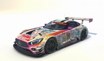 Goodsmile Racing Mercedes AMG GT3 2021 Version [December Fuji Reveal]