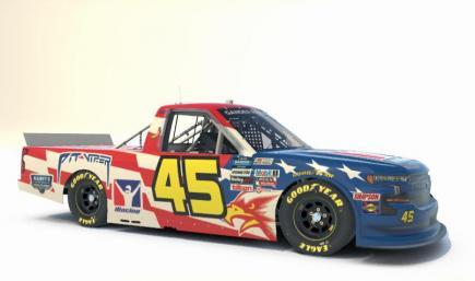 Travis Pastrana #45 iRacing 2020 NASCAR NASCAR Gander RV & Outdoors Truck Series