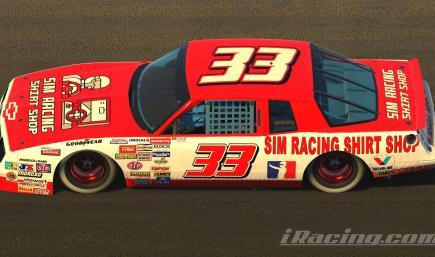 Sim Racing Shirt Shop 87 Cup Car (No #)