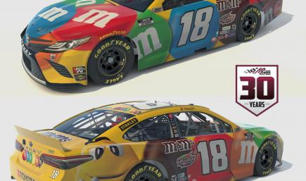 2021 Kyle Busch M&M Camry Primary No Num