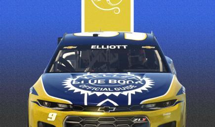2021 Chase Elliott Kelly Blue Book Camaro
