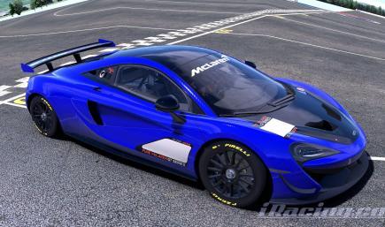 Mclaren 570s GT4 Dark Blue Carbon