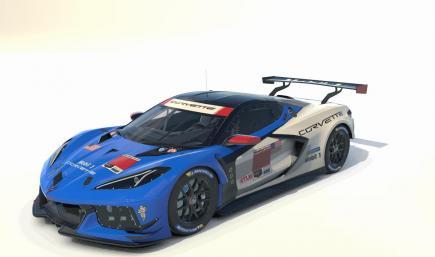 C8 Gran Turismo Inspired Blue IMSA version