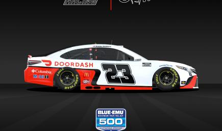 OFFICIAL - Bubba Wallace 23XI DoorDash Night White - WITH Numbers