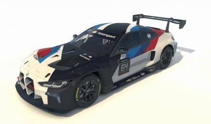 BMW M4 GT3 Release Livery white number