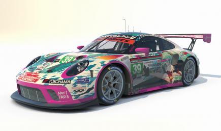 Goodsmile Racing 2020 Porsche 911 GT3 R [IMSA Number Panels] Hatsune Miku GT Project