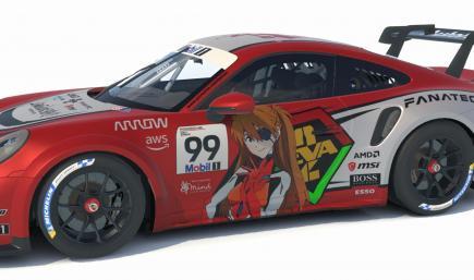 Porsche 911 GT3 Cup (992) - Rebuild of Evangelion 3.0+1.01 - Asuka skin