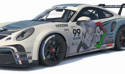 Porsche 911 GT3 Cup (992) - Neon Genesis Evangelion  - Rei Skin