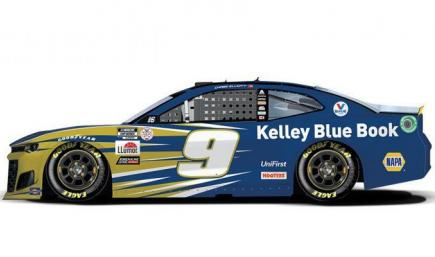 Chase Elliott #9 Kelly Blue Book 2021 NASCAR Cup Series Playoffs Round of 16 With Custom Number