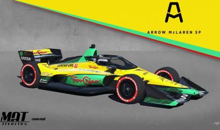 Arrow McLaren Topo Chico Pato OWard Concept -no number-