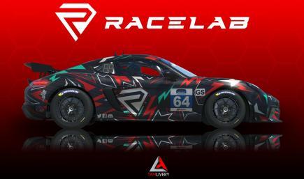 Porsche 718 Cayman GT4 Racelab Livery
