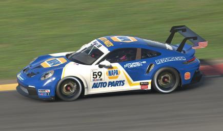 Napa Auto Parts 992 Porsche Cup