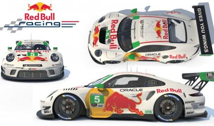 White Red Bull Porsche 911 GT3 R