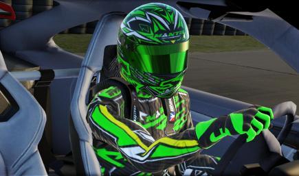 Driver Suit GREEN CARBON