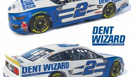 2021 Brad Keselowski Dent Wizard Playoff Mustang No Numbers