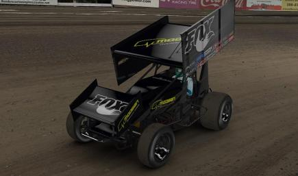 bass pro shops dirt sprint car by sam draiss trading paints. Black Bedroom Furniture Sets. Home Design Ideas